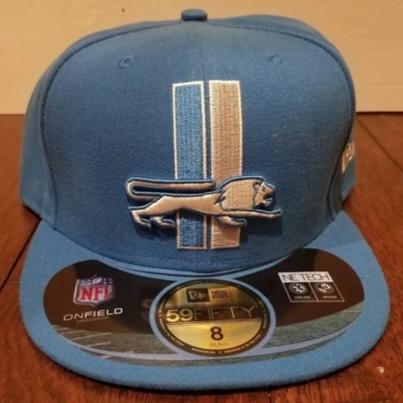 d4161b13497 New Era Detroit Lions On Field Fitted Size 8